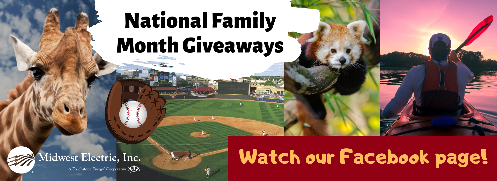National Family Month Giveaways in June - see our Facebook page