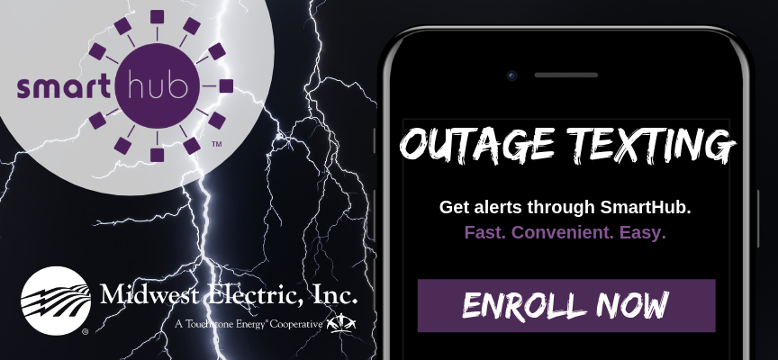 Set up outage alerts and we'll text you