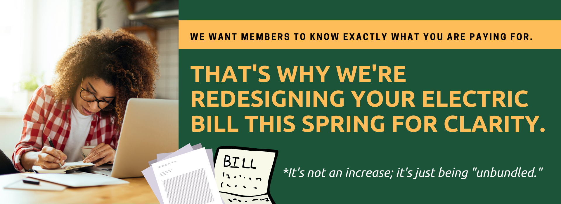 Midwest Electric bill redesign heads up