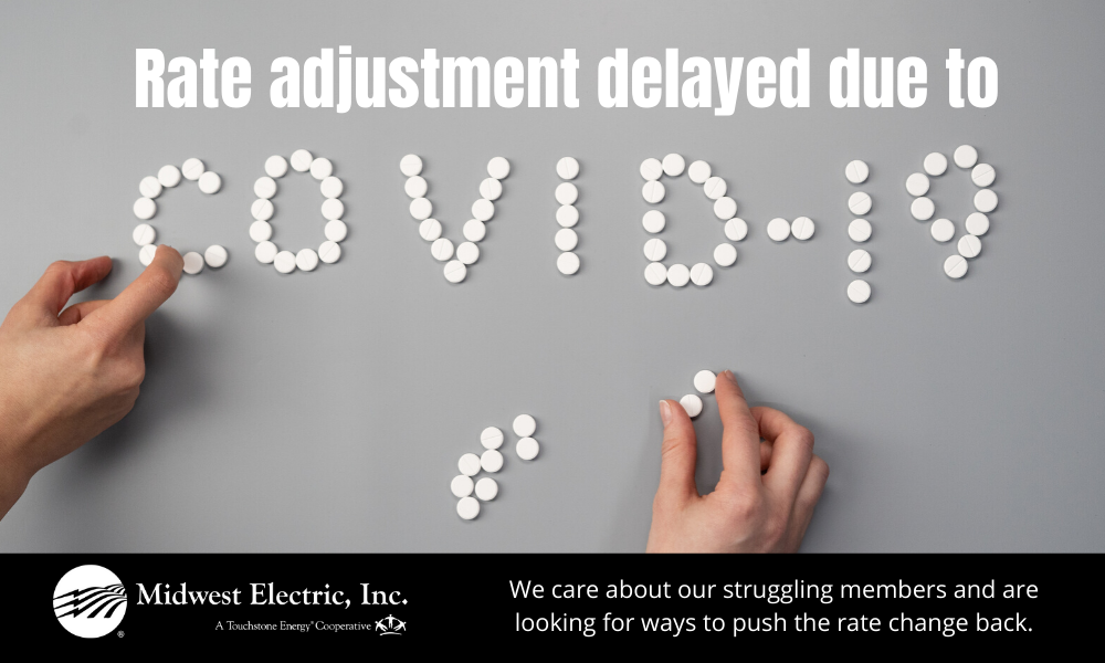 rate adjustment being delayed due to COVID-19
